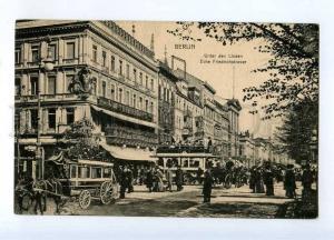 247215 GERMANY BERLIN Victoria cafe carriage Vintage postcard