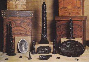 Argillite carvings of the Haida Indians, Museum of Northern B.C., Hwy 16., ...