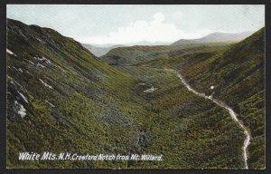 Crawford Notch White Mountains New Hampshire Unused c1905
