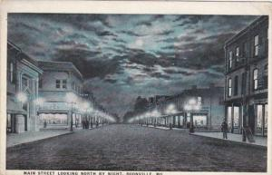 Missouri Boonville Main Street Looking North By Night