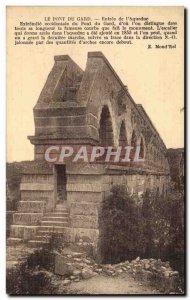 Old Postcard Pont du Gard entry of & # 39aqueduc