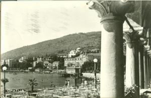 Croatia, Opatija, 1964 used real photo Postcard