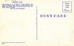 NY - Lake George. Shamrock Motel   (damaged card)