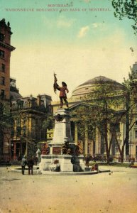 Canada - Montreal Maisonneuve Monument and Bank of Montreal 03.46