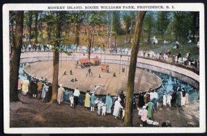 Rhode Island PROVIDENCE Monkey Island Roger Williams Park - White Border