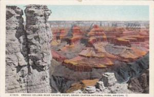 Fred Harvey Eroded Column Near Yavapai Point Grand Canyon National Park Arizona
