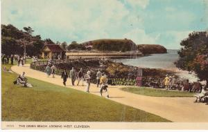 Post Card Somerset CLEVEDON The Green Beach
