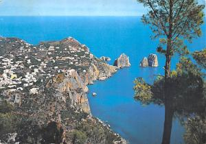 Italy Old Vintage Antique Post Card Panoramic View, The Faraglioni Capri Post...