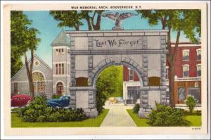 War Memorial Arch, Gouverneur NY