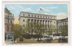 Wake County Court House Raleigh North Carolina 1920c postcard