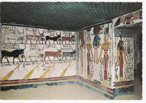 Queen's Valley, Painted Relief, Tomb of Nefertari, LUXOR, Egypt, 50-70's
