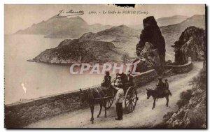 Corsica - Corsica - The Gulf of Porto Donkey Donkey Charette - Old Postcard