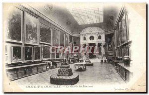 Old Postcard Chateau de Chantilly Gallery paintings