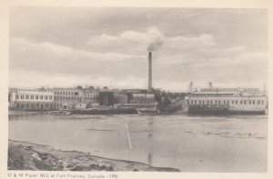 FORT FRANCES, Ontario, Canada, 1930s; O & M Paper Mill, Steam Stack