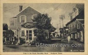Fork in the Road, Bearskin Neck Rockport MA 1948