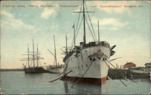 Newport RI Naval Training Ships Reina Mercedes Cumberland & Constellation