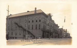 Ashland OH Opera House Block Storefronts Galion View Publishers RPPC Postcard