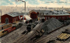 F36/ Bellevue Ohio Postcard 1910 Nickel Plate Railroad Yards Roundhouse