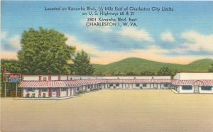 Charleston West Virginia~Ace Hotel Court and Restaurant~1940s Linen Roadside