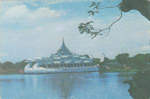 Mayanmar Burma Karaweik Hall On Royal Lake Rangoon