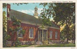 Maine Camden Public Library 1944