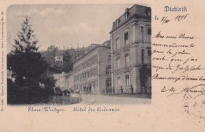 Diekirch , Luxembourg , PU-1898 , Place Wirtgen. Hotel des Ardennes