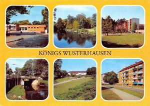 Koenigs Wusterhausen, Im Neubauviertel Im Stadtpark Neubauten Bibliothek Bruecke