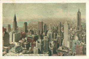 Vintage New York City Postcard View from Radio City Music Hall 1940s