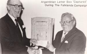 Falklands War Argentinian Letter Box Capture Harry Secombe Real Photo Postcard