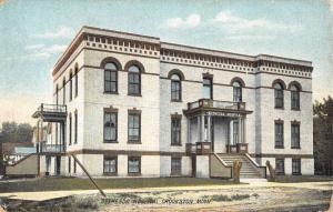 Crookston Minnesota Bethesda Hospital Street View Antique Postcard K47108