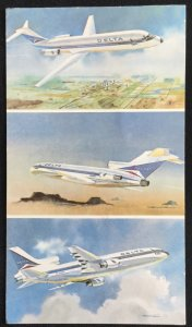 Unused Delta Airlines Airplanes Glasgow Scotland postmark 1983