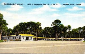 Florida Daytona Beach Candlelight Lodge 1949
