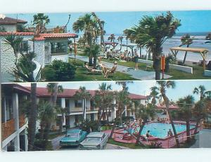 Pre-1980 OLD CARS & BEACON BY THE SEA MOTEL Daytona Beach Florida FL ho5206