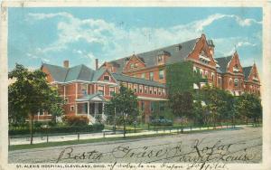 St. Alexis Hospital Cleveland Ohio United States circa 1920 postcard