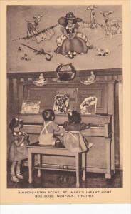 Kindergarten Scene St Mary's Infant Home Norfolk Virginia