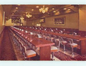 Unused 1950's BINGO ROOM AT GOLDEN NUGGET CASINO HOTEL Las Vegas Nevada NV s0702