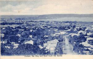 South Africa Durban the Bay and Bluff from the Berea postcard