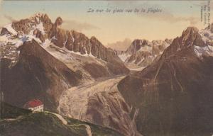 La mer de glace vue de la Flegere, Chamonix-Mont-Blanc, Haute Savoie, France,...
