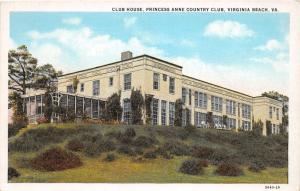 F3/ Virginia Beach Postcard c1910 Club House Princess Anne Country Club 3