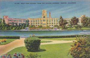 Colorado Denver West High School From The Sunken Garden
