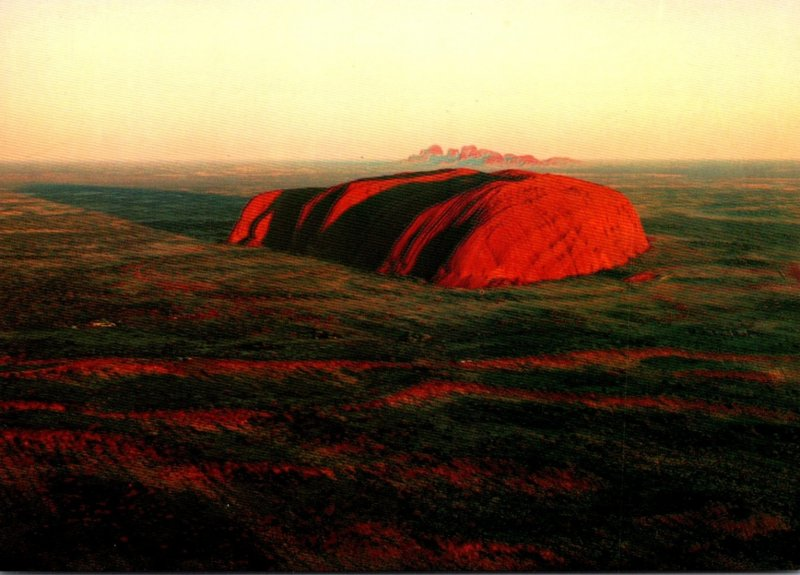 Australia Ayers Rock and The Olgas At Sunrise Central Australia