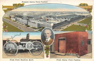 LPM15 Dearborn Henry Ford Auto Factory   Michigan Postcard