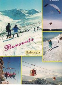 Borovets Skiing Chair Life Bulgaria Daredevil Balloon Jump Postcard