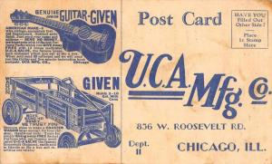 Chicago Illinois UCA Mfg Co Guitar and Wagon Vintage Postcard JA454664