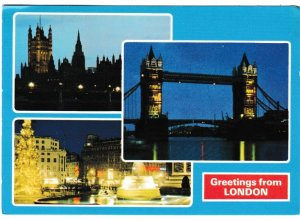 Postcard London Greetings from London 3 views