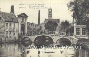 Le Pont du Beguinage Bruges, Belgium Unused