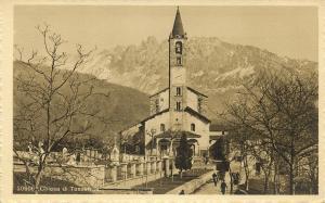switzerland, TESSERETE, Ticino, Chiesa, Church (1930s) RPPC Postcard