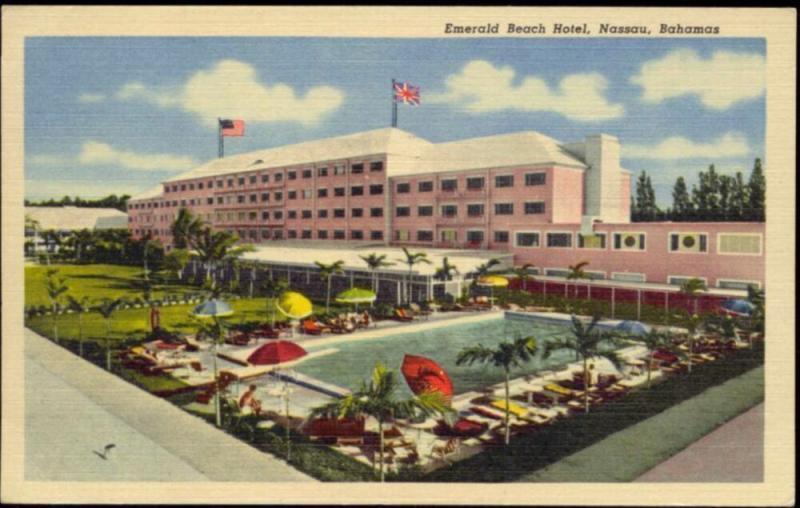 bahamas, NASSAU, Emerald Beach Hotel (1940s)