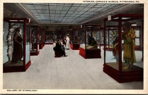 Pennsylvania Pittsburgh Carnegie Museum Interior Gallery Of Ethnology Curteich
