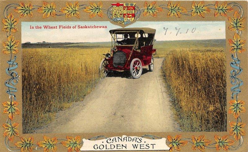 br105754 in the wheat fields of saskatchewan canada golden west oldtimer